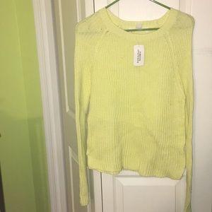New yellow sweater